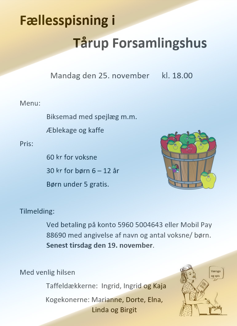 invitation til fællesspisning